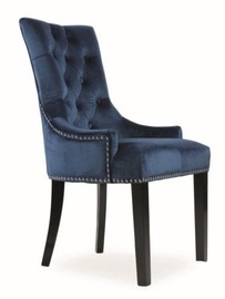 Ēdamistabas krēsls Signal Meble Edward Velvet Dark Blue