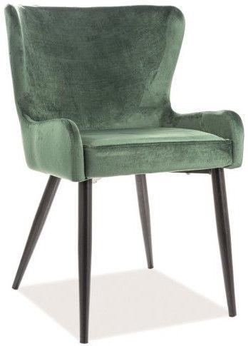 Ēdamistabas krēsls Signal Meble Passo II Green/Black, 1 gab.