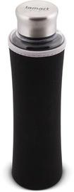 Бутылка для воды Lamart LT9031, серебристый/черный, 0.55 л