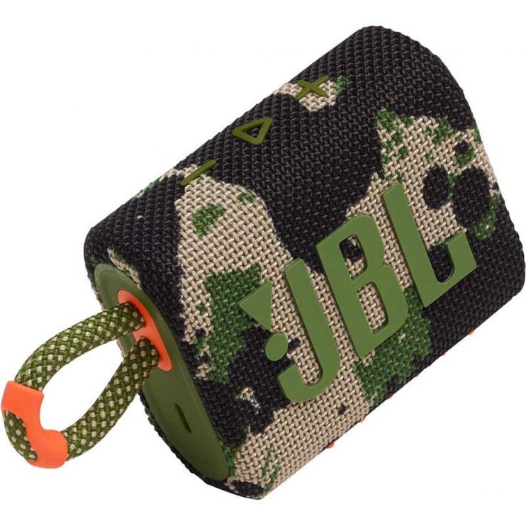 JBL GO 3 Bluetooth Speaker Camo