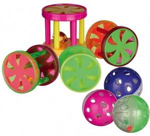 Trixie 4099 Assortment Balls and Rolls Plastic 60pcs
