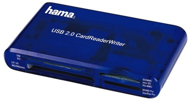 Hama 35in1 USB 2.0 Multi Card Reader Blue
