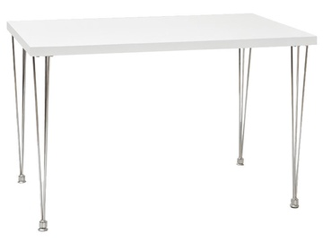 Pusdienu galds Signal Meble Paulo White, 1200x760x730 mm