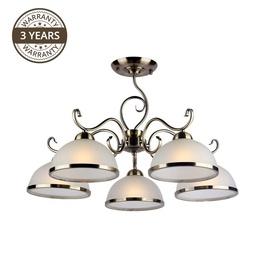 Okko Ceiling Lamp Estera MX90746C/5 5x60W White/Gold