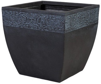 Home4you Flowerpot Flore-4 H21cm Dark Gray