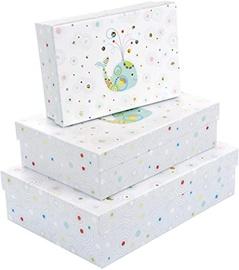 Dāvanu kaste Goldbuch Whale Serinity, balta/daudzkrāsains, 250 mm x 175 mm x 69 mm