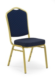 Ēdamistabas krēsls Halmar K66 Blue/Gold