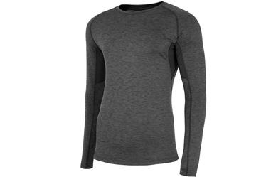 Krekls ar garām piedurknēm 4F Men's Functional Long Sleeve Top Grey S NOSH4-TSMLF002-90M