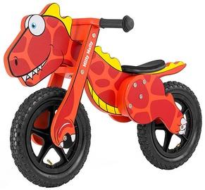 "Līdzsvara velosipēds Milly Mally Dino 2923, sarkana, 12"""