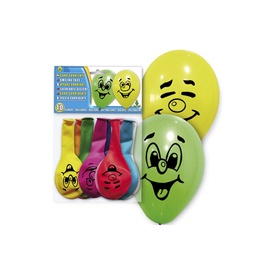 Baloni, ovāli, krāsaini, 10gab.