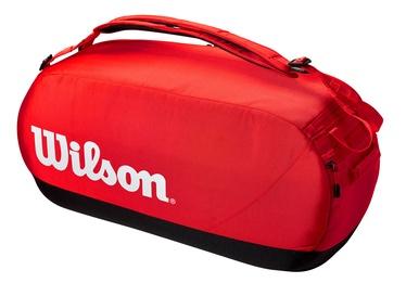 Спортивная сумка Wilson Super Tour Large Duffle, белый/черный/красный