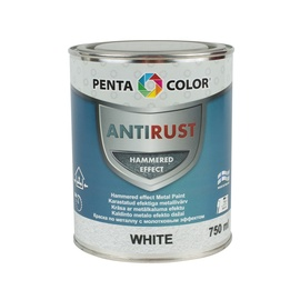 Pentacolor Enamel Paint Universal Antirust Hammered Effect 0.75l White