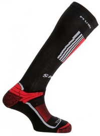 Zeķes Mund Socks Snowboard Black/Red, XL, 1 gab.