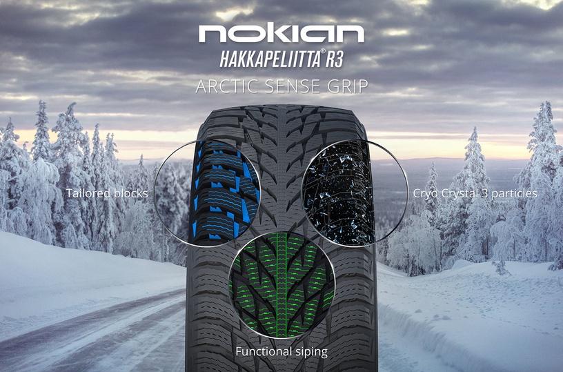 Зимняя шина Nokian Hakkapeliitta R3, 225/55 Р16 99 R XL B F 72
