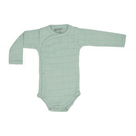 Lodger Romper Solid Body With Long Sleeves Silt Green 74cm