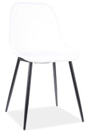 Ēdamistabas krēsls Signal Meble Modern Corral A, balta