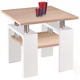 Kafijas galdiņš Halmar Diana H Kwadrat Sonoma Oak/White, 600x600x550 mm