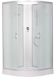 Dušas kabīne Erlit 3509PE-C3, pusapaļā, 90 x 90 x 195 cm