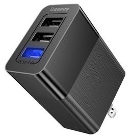 Baseus Duke 3x USB Travel Charger With Exchangeable Plug Black