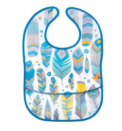 Canpol Babies Waterproof Bib With Pocket Wild Nature Turquoise