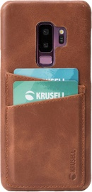 Krusell Sunne 2 Card Back Case For Samsung Galaxy S9 Plus Brown