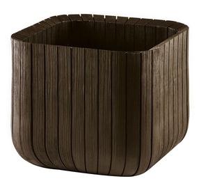 Вазон Keter Cube Planter L Brown