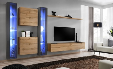 ASM Switch XVI Wall Unit Wotan Oak/Graphite