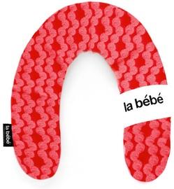 Подушка для беременных La bebe Rich Cotton White & Red Ornament, белый/красный