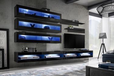 ASM Fly U2 Living Room Wall Unit Set Black