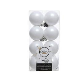 Ziemassvētku eglītes rotaļlieta 021789 White, 40 mm, 16 gab.