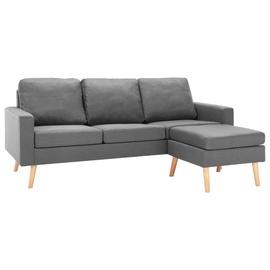 Dīvāns VLX Sonata, gaiši pelēka, 76 x 184 x 82.5 cm