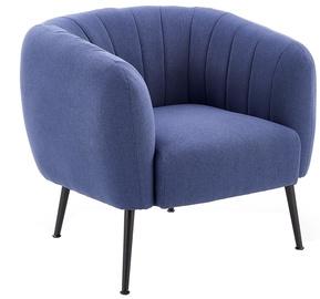 Atzveltnes krēsls Halmar Lusso Dark Blue, 74x72x63 cm