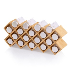 Homede Priske Bamboo Spice Rack