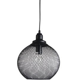 Verners Basket Round Ceiling Lamp 60W E27 Black