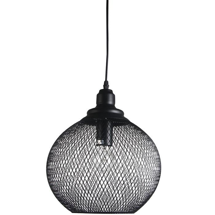 Gaismeklis Verners Basket Round Ceiling Lamp 60W E27 Black