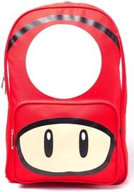 Рюкзак Licenced Mushroom Placed, белый/красный