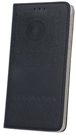 Mocco Stamp Stylish Magnet Book Case For Samsung Galaxy A5 A510 Black