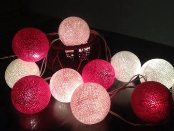 Elektriskā virtene Christmas Touch XY-BL3-20B, 20 LED, rozā, 2.2 m