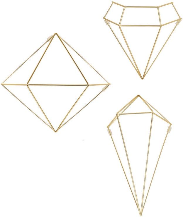 Umbra Prisma Wall Decor Set Brass 6pcs