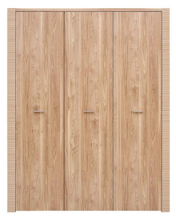 Skapis Black Red White Raflo Salev Walnut, 166x65.5x205 cm