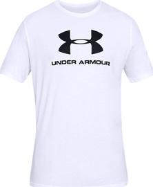 Футболка Under Armour Sportstyle Logo Tee 1329590-100, белый, 2XL
