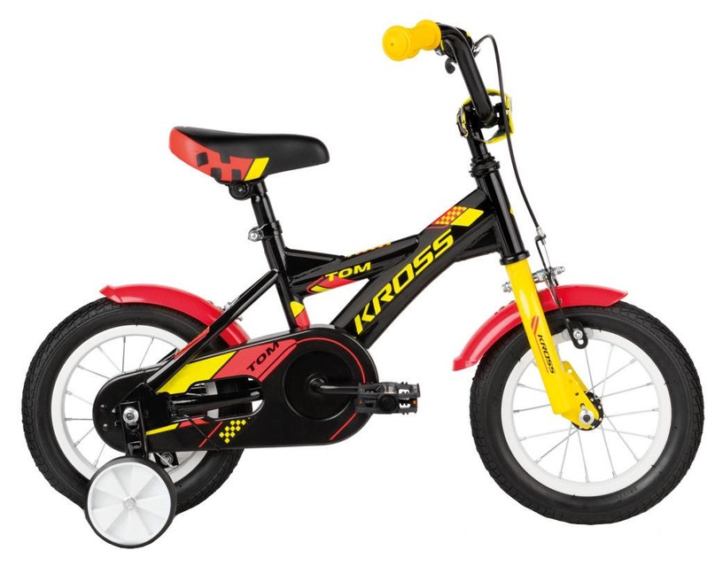 "Kross Tom 12"" Black Yellow Red Matte 18"