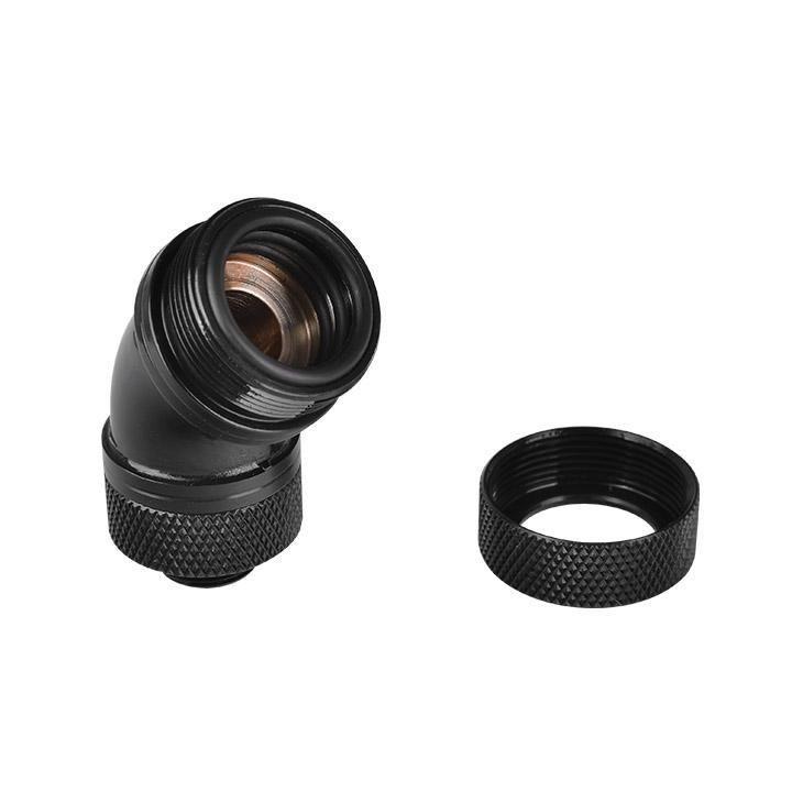 Thermaltake Pacific G14 PETG Tube 45-Degree Compression 16mm OD – Black