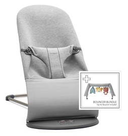 BabyBjorn Bouncer Bliss Light Grey 3D Jersey With Bouncer Bundle
