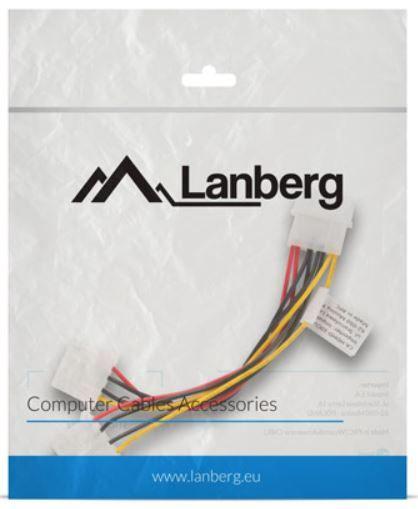Lanberg Cable Molex x2 / Molex 0.15m