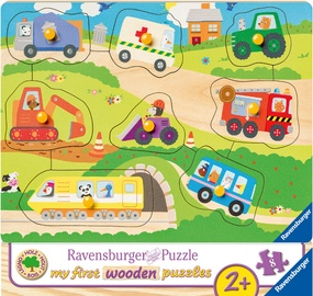 Puzle Ravensburger My First Wooden Favourite Vehicles 036844, 8 gab.
