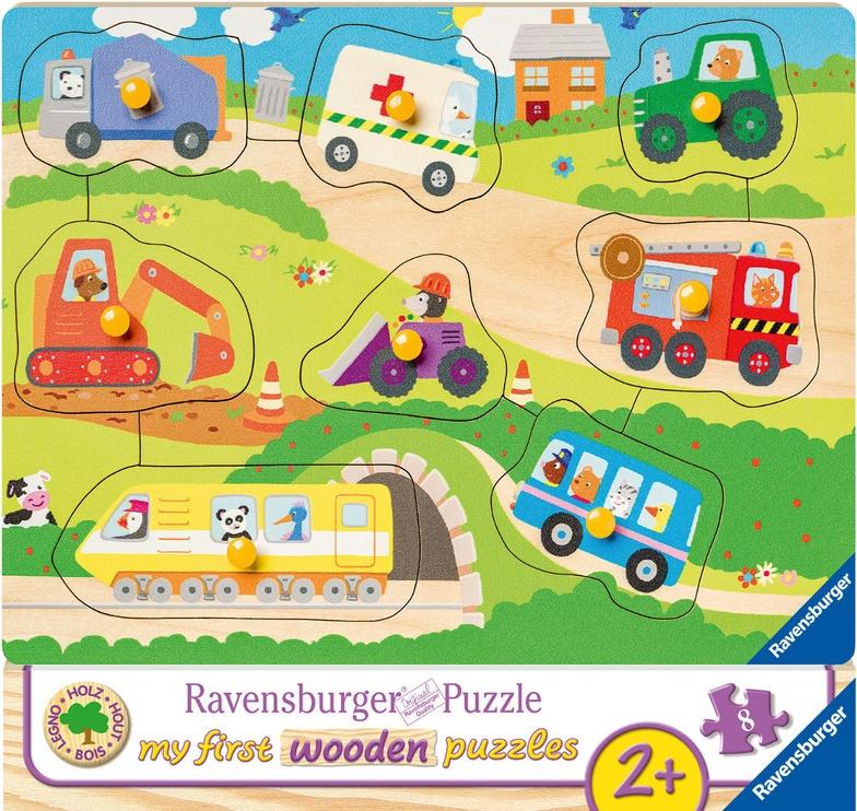 Koka puzle Ravensburger My First Wooden Favourite Vehicles 036844