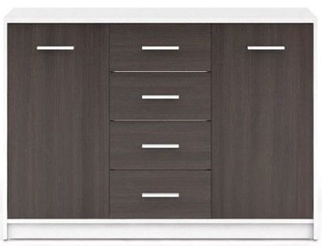 Black Red White Chest Of Drawers Nepo Plus White/Wenge