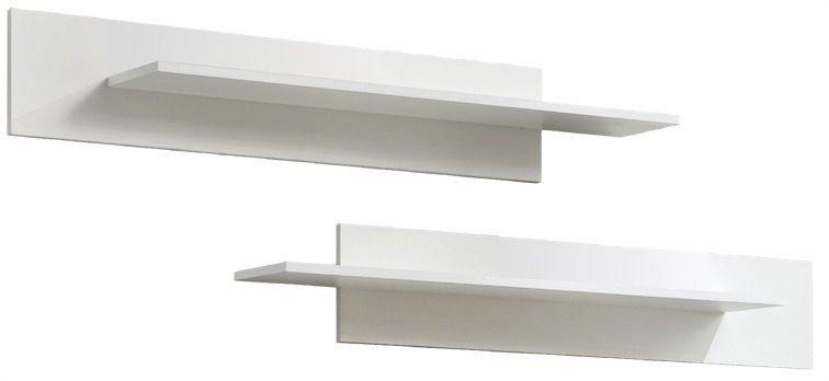Dzīvojamās istabas mēbeļu komplekts ASM Fly H Horizontal Glass White/Black Gloss