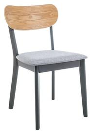 Ēdamistabas krēsls Signal Meble Vitro Graphite/Oak, 1 gab.